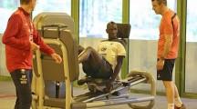 Musculation pour footballeur avec l'équipe de France