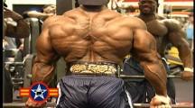 Flex Wheeler et Chris Cormier entraînement du dos